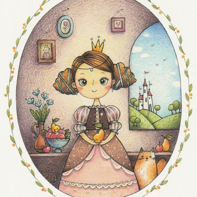 Ansichtkaart Fruitige Prinses.