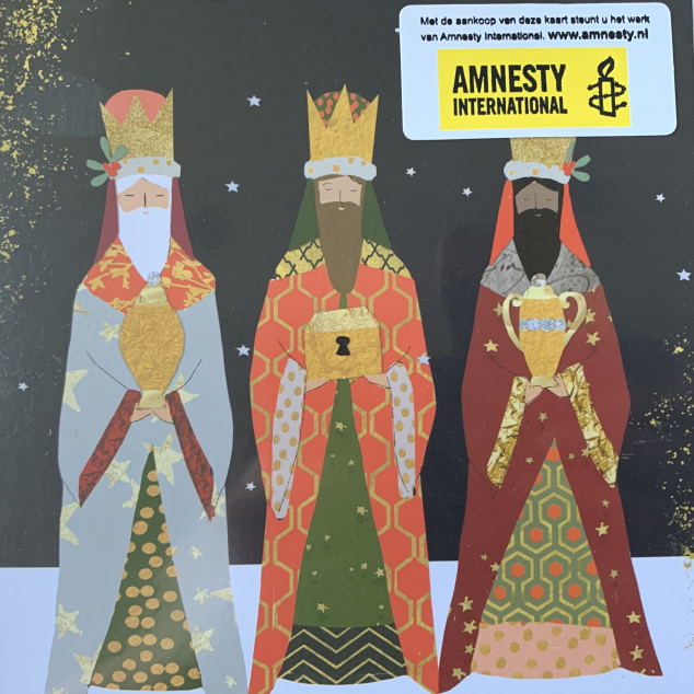 Christmas Cards Amnesty International 3 wise men from the East.