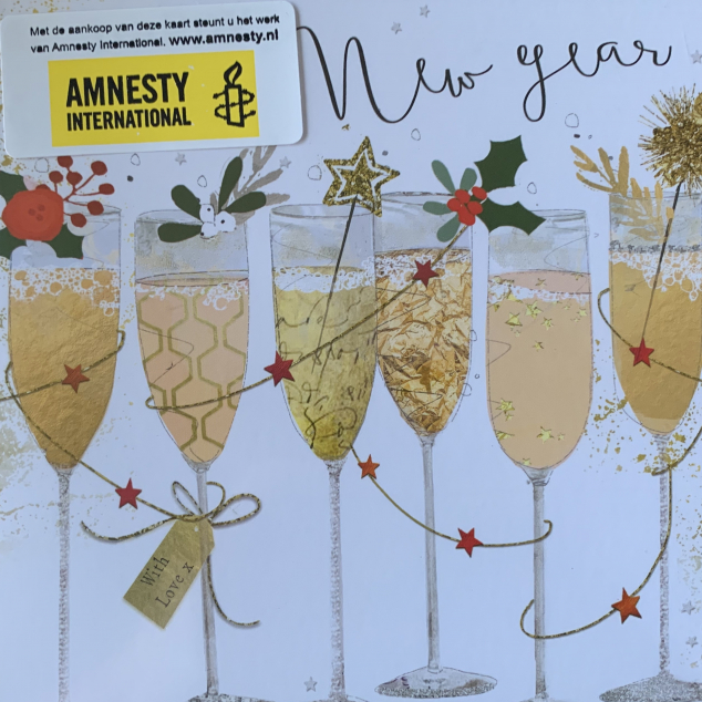 Kerstkaarten Amnesty International Champagne.