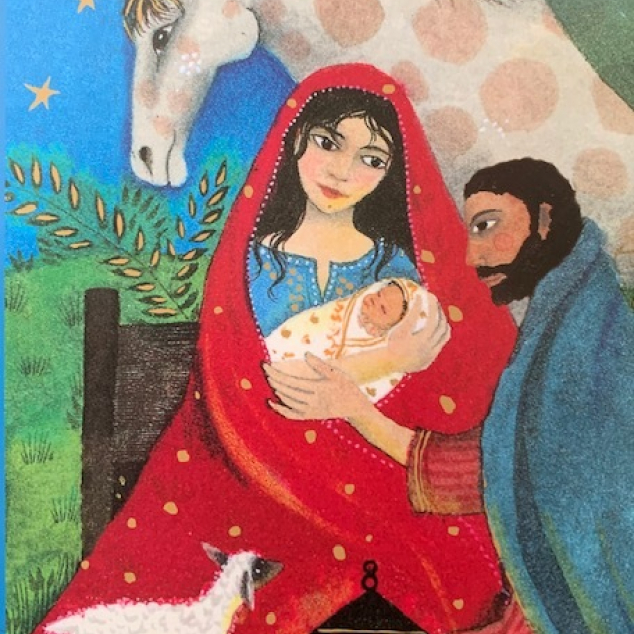 Christmas Cards Roger La Borde, Christmas Joseph, Mary and Jesus.