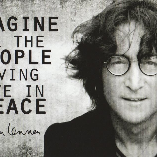 Ansichtkaart John Lennon.