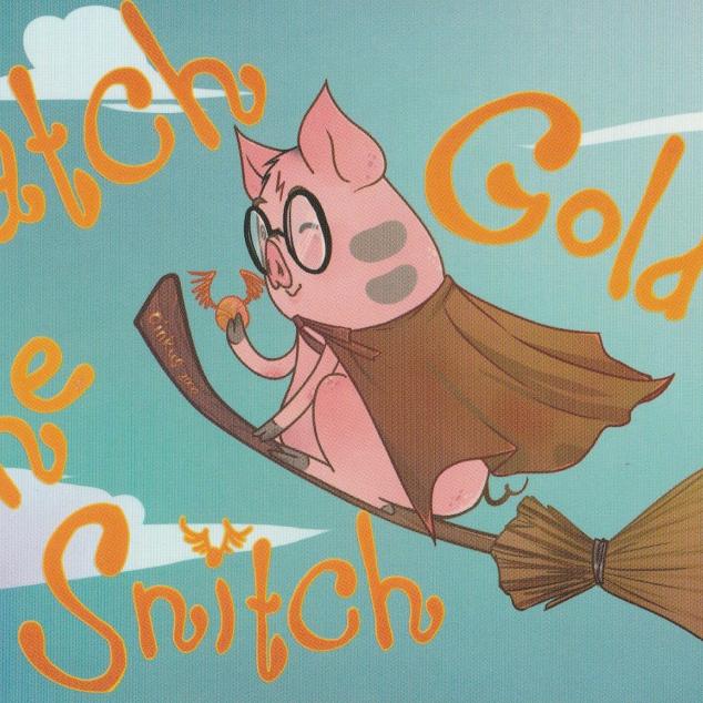 Ansichtkaart Catch the Golden Snitch.