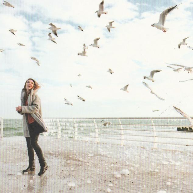 Ansichtkaart Op het Strand.