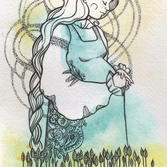 Ansichtkaart Zwanger.