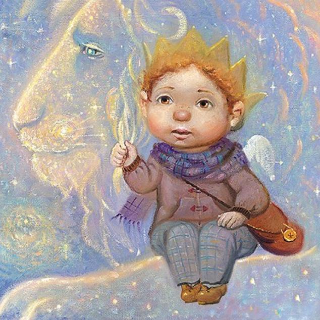 Ansichtkaart Aan de Manen van een Leeuw.