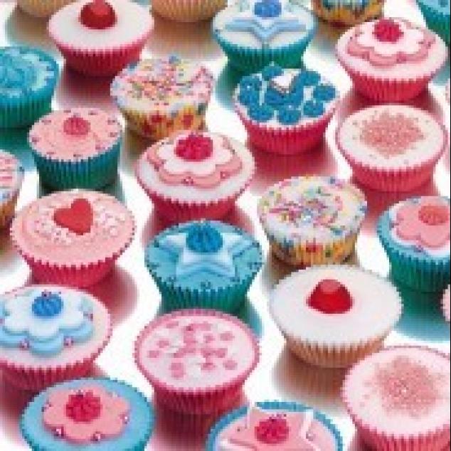 Wenskaart Cup Cakes.