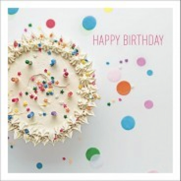 Greeting Card with Cake.
