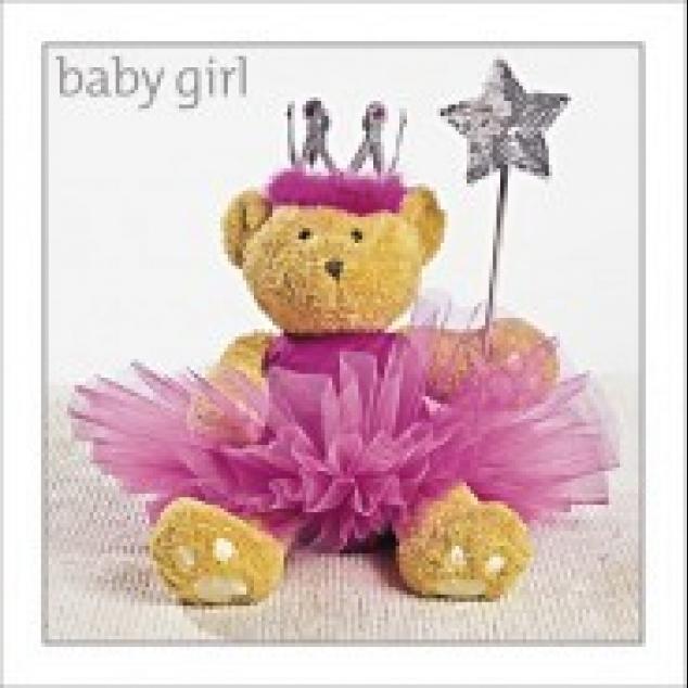 Wenskaart Baby Girl.
