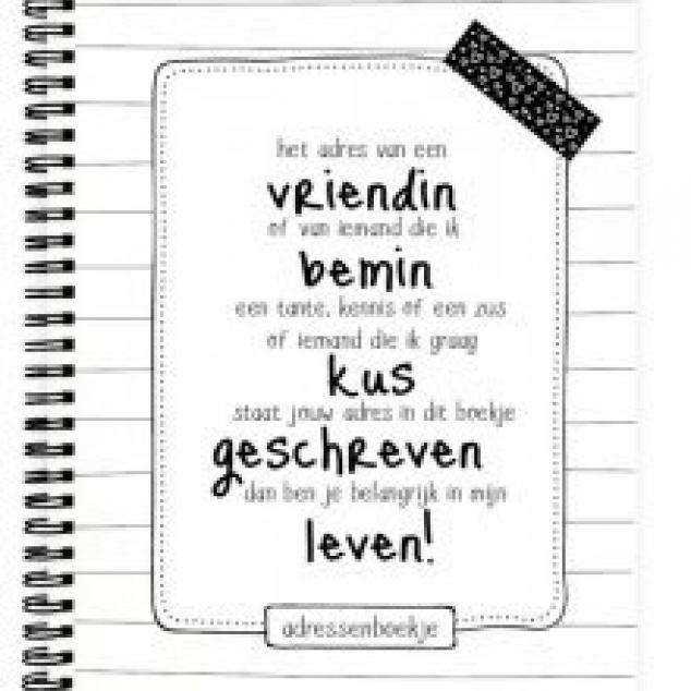 Adresboekje (by Anne).