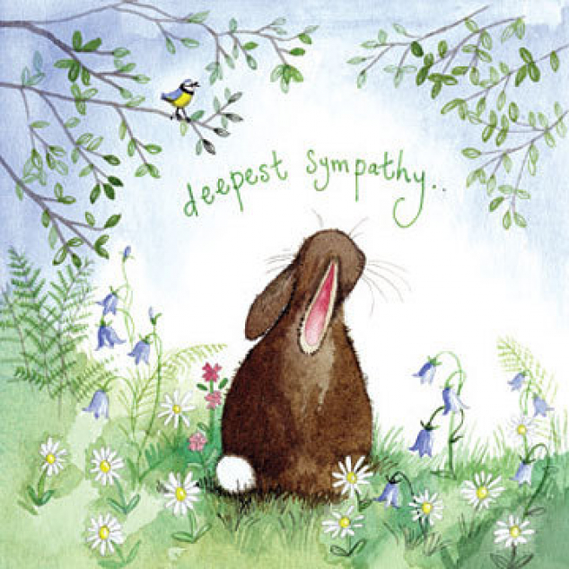 Greeting Card Deepest Sympathy.