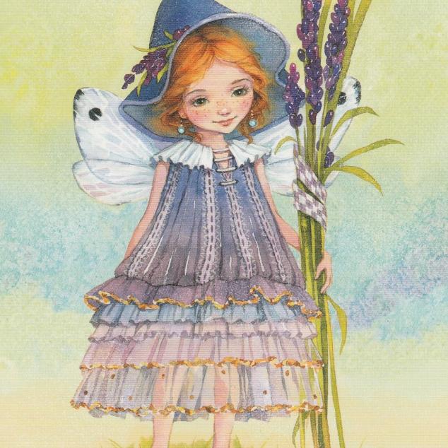 Postcard Lavender Girl.