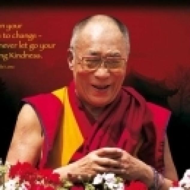 Ansichtkaart Dalai Lama.
