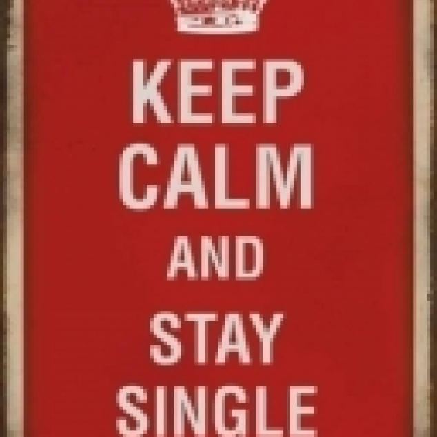Ansichtkaart Keep Calm and stay Single.