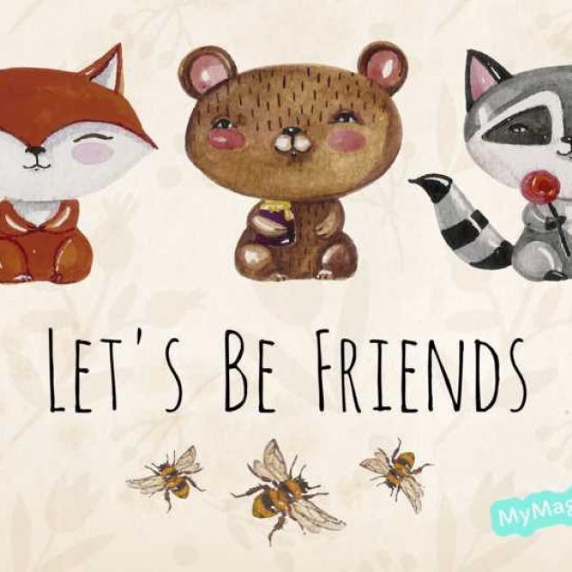 Ansichtkaart Let's be Friends - 2.