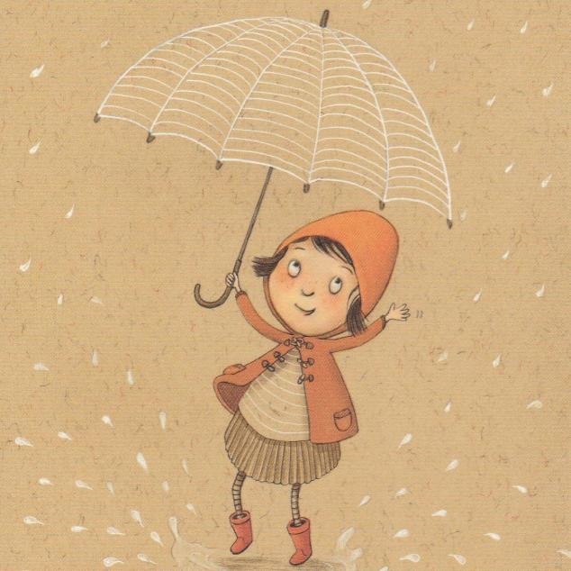 Ansichtkaart Paraplu.