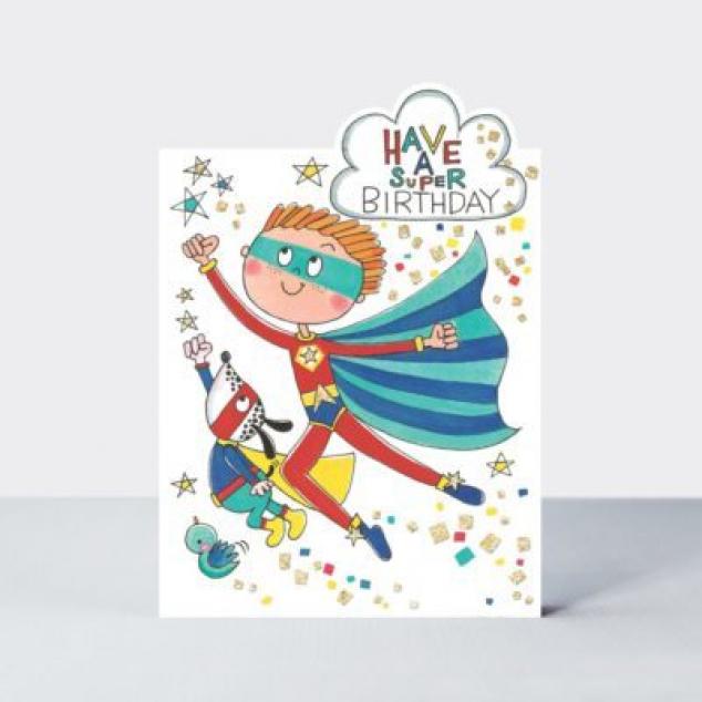 Ansichtkaart Have a Super Birthday.