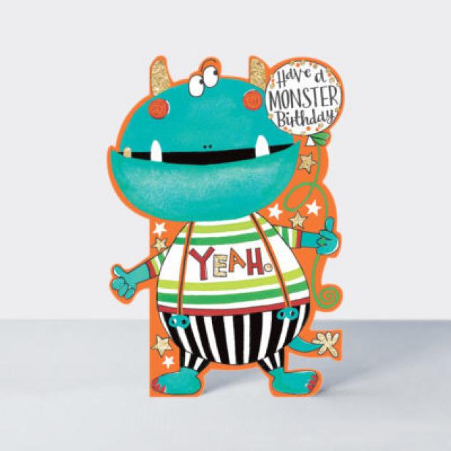 Ansichtkaart Have a Monster Birthday.