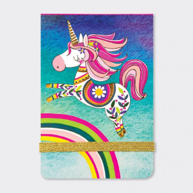 Mini Notepad, Unicorn & Rainbow.