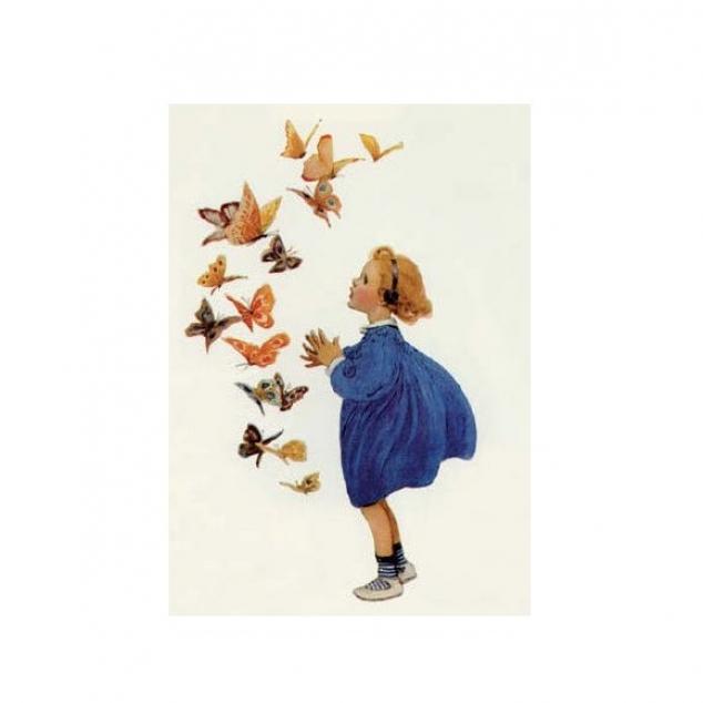 Ansichtkaart Prachtige Vlinders.