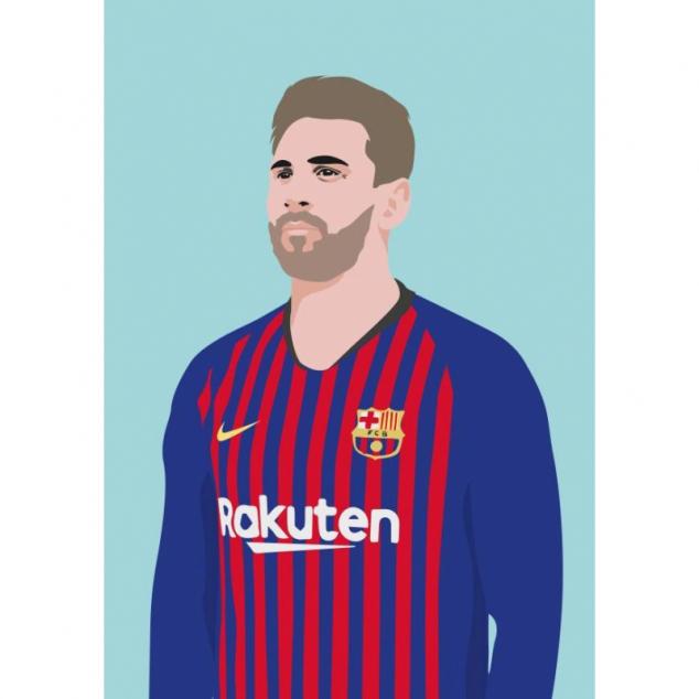 Ansichtkaart Messi.