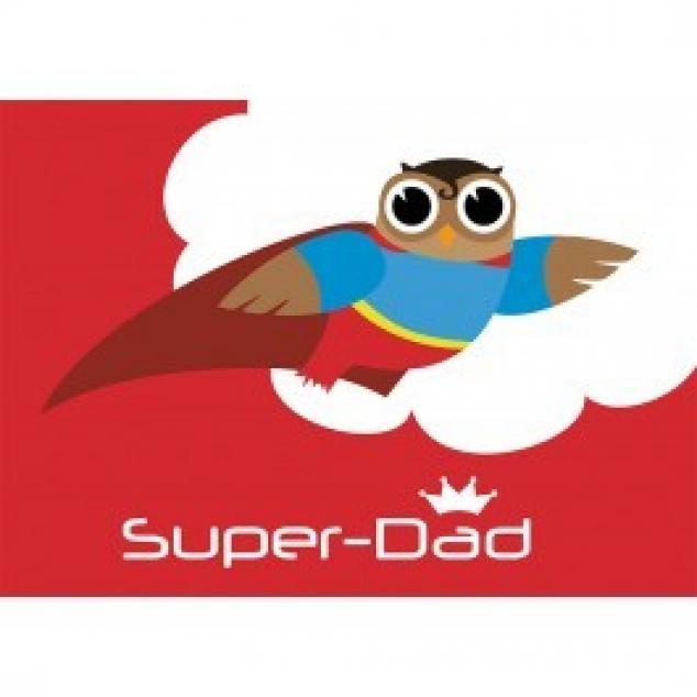 Ansichtkaart Super Dad.