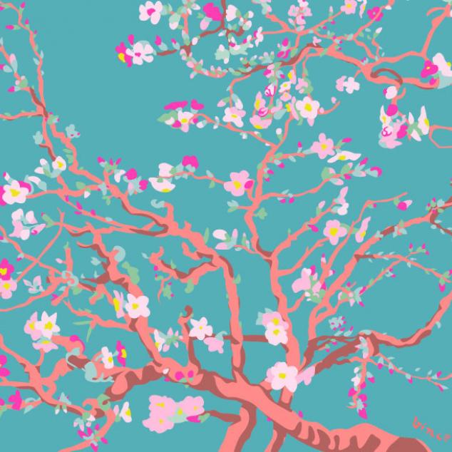 Ansichtkaart Almond Blossom, Vincent van Gogh.