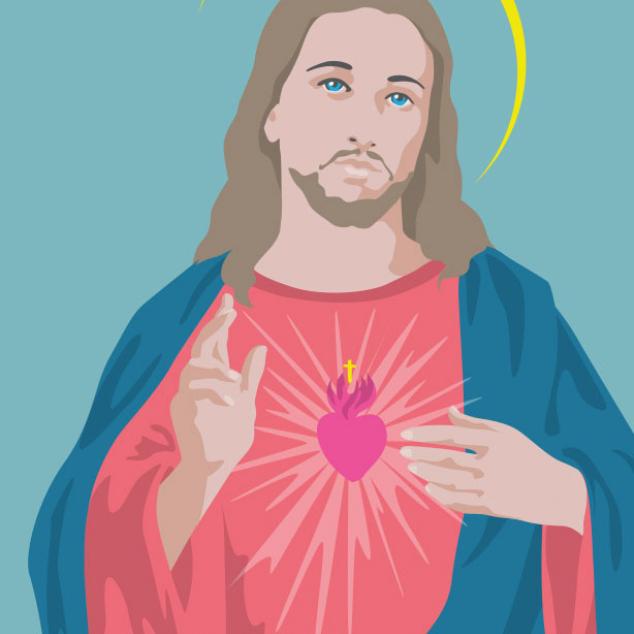 Ansichtkaart Jezus.