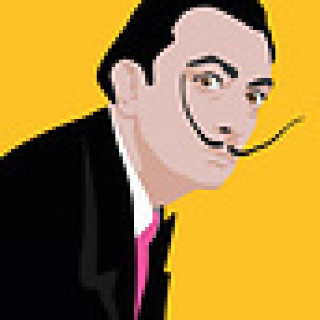 Ansichtkaart Salvador Dali.