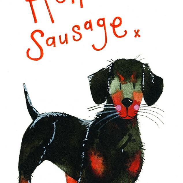 Kaartjes Hello Sausage.