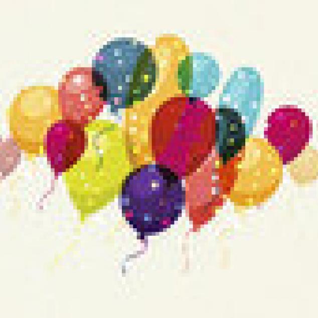 Ansichtkaart Heel veel Ballonnen