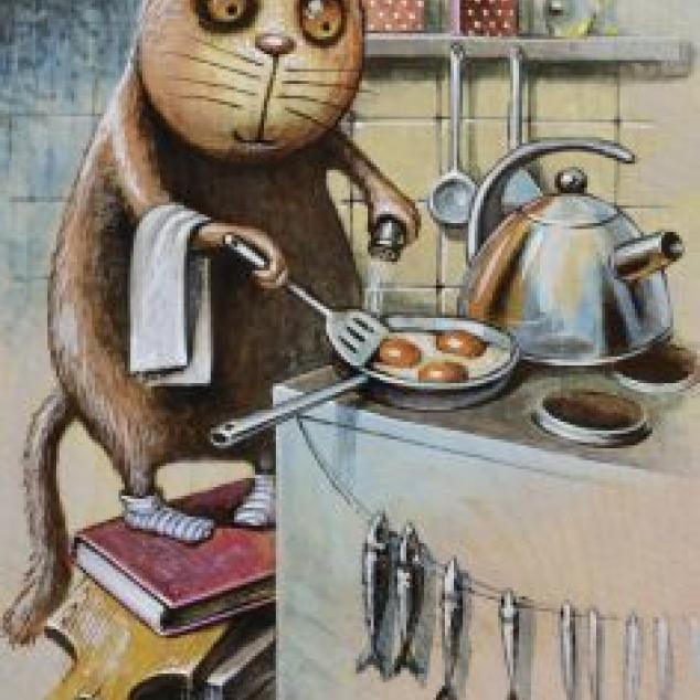 Ansichtkaart Omelet.