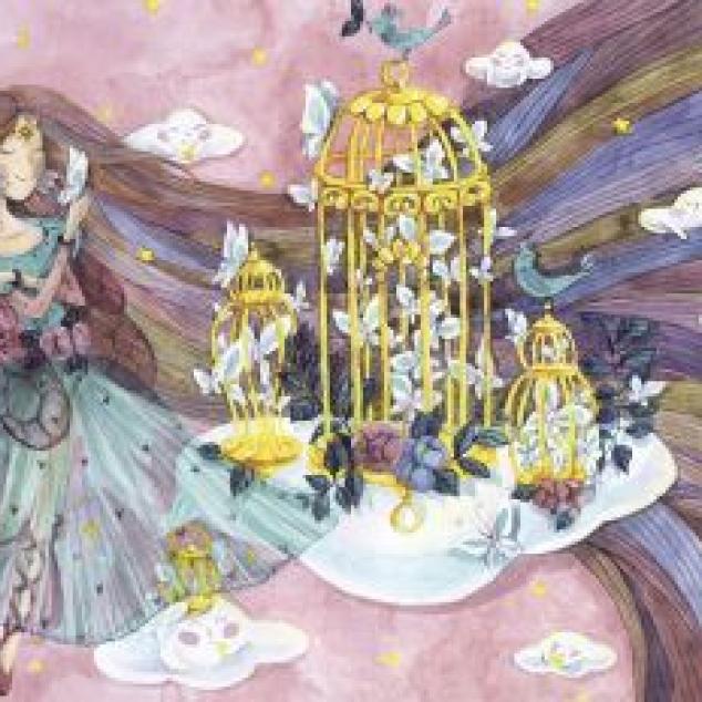 Ansichtkaart Vlinder Prinses.