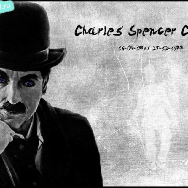 Ansichtkaart Charles Chaplin.