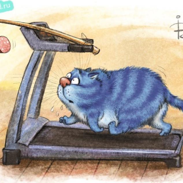 Ansichtkaart Blue Cat Aan de Slag met de Corona pondjes.