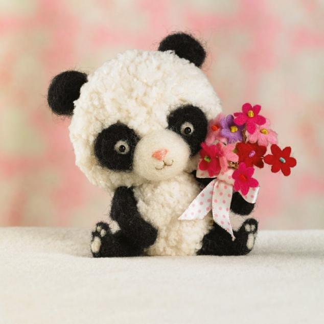 Wenskaart Panda.