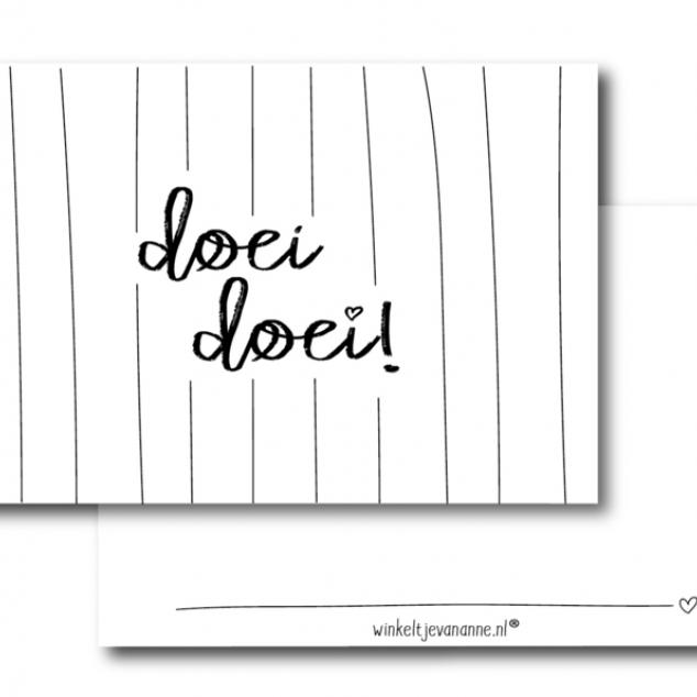 Ansichtkaart Doei Doei.