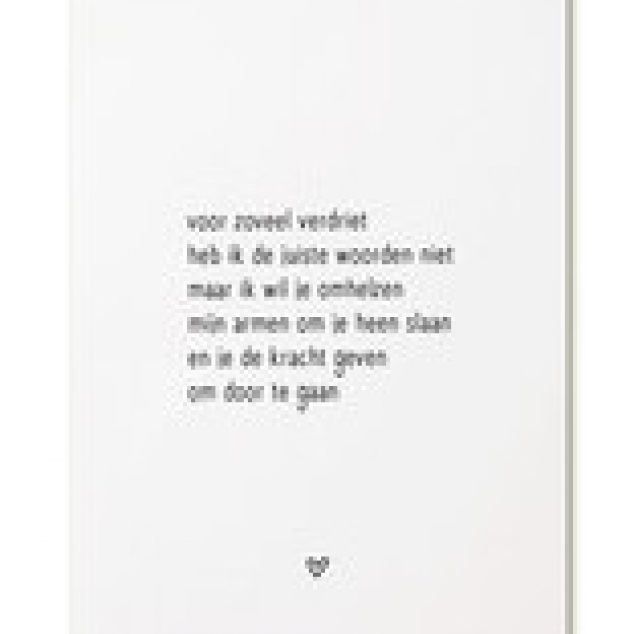 Ansichtkaart Verdriet....