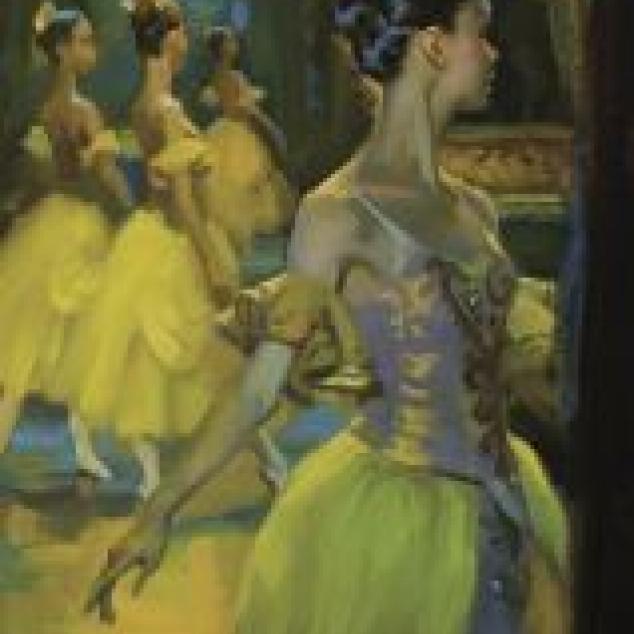 Ansichtkaart Ballet achter de Coulise.