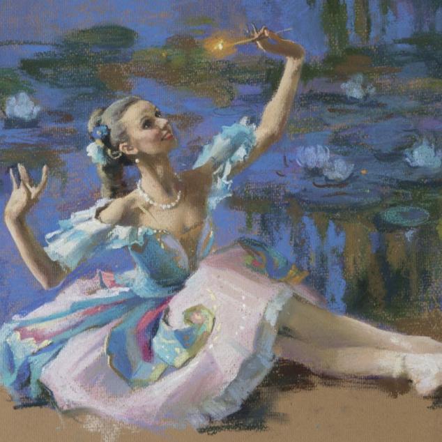Ansichtkaart Ballerina.