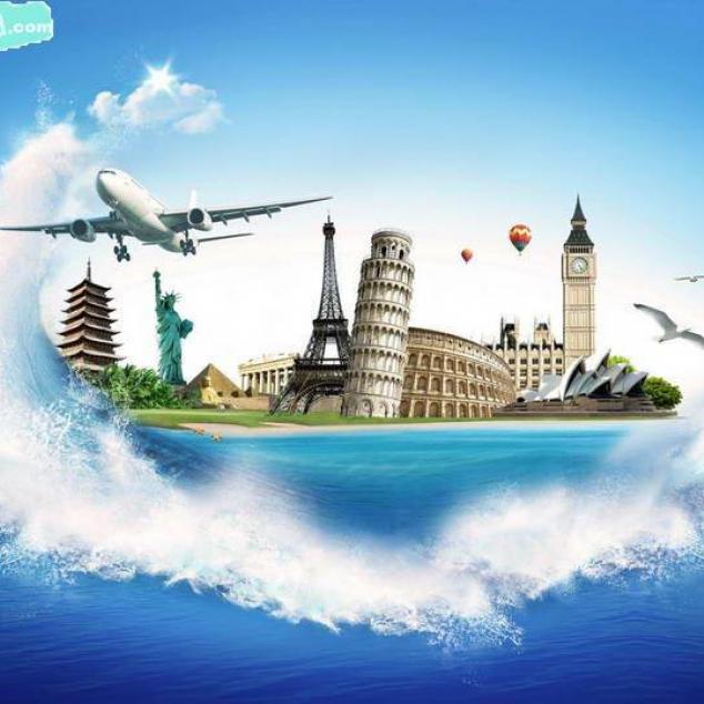 Ansichtkaart Around the World.