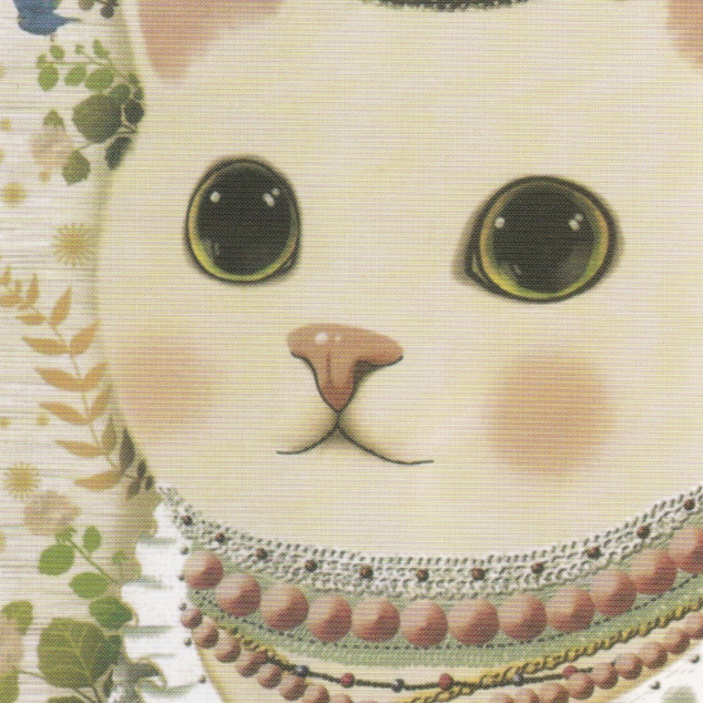 Ansichtkaart Jetoy - Witte Kat met Kroon.