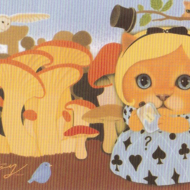 Ansichtkaart Jetoy - Kitten met Pruikje.