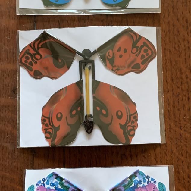 Fladderende Vlinders voor in Kaart of Boek.