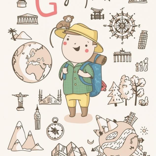 Ansichtkaart Geograaf.
