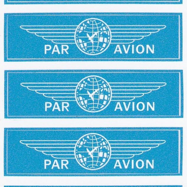 Stickers Par Avion (9 stuks, per velletje)