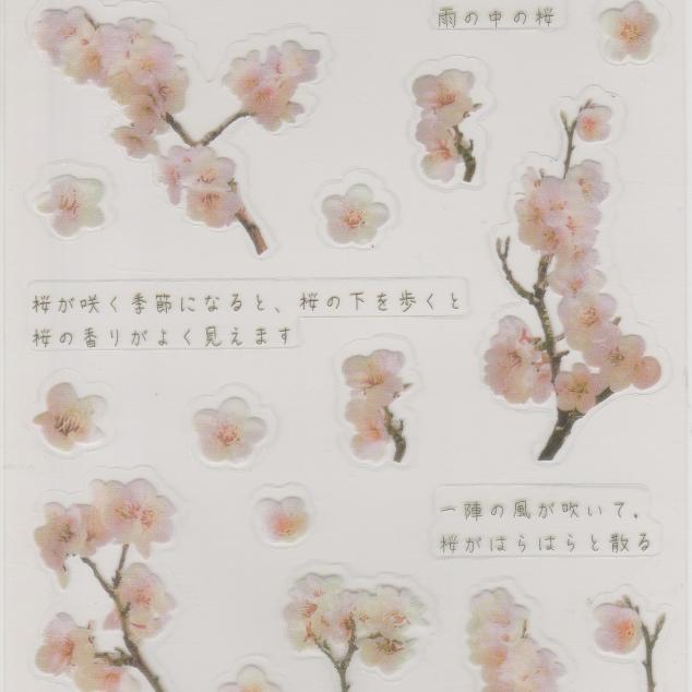 Stickers, Japanse Kersenbloesem.