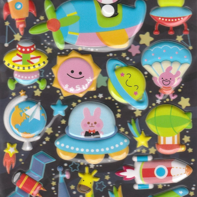 Puffy Stickers, Space Trip .