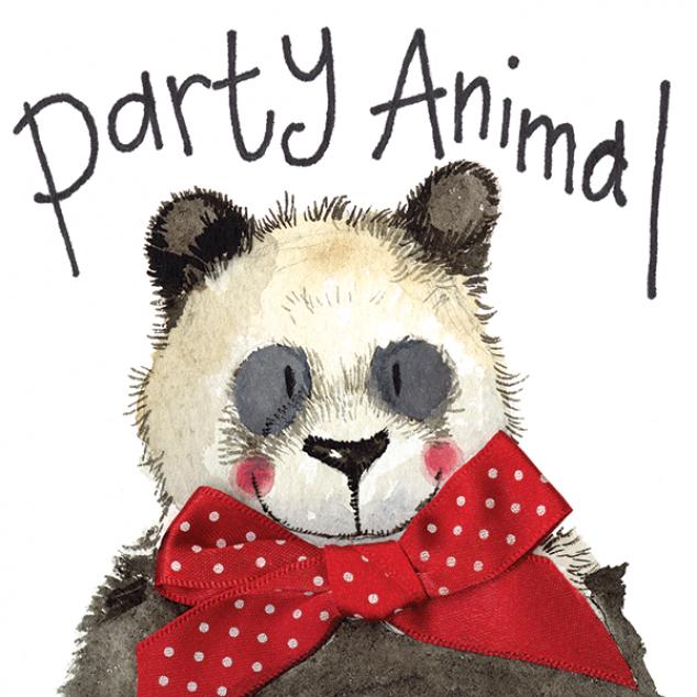 Wenskaart Party Animal.
