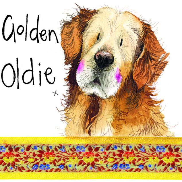 Wenskaart Golden Oldie.