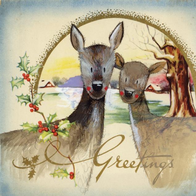 Kerstkaart Greetings.